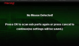 Mouse not detected screenshot